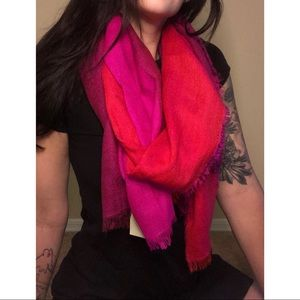 AE large multi colored scarf
